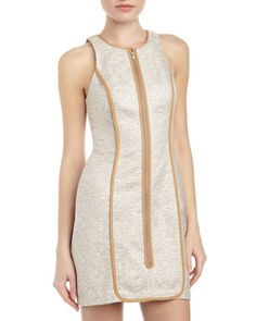 Boucle Zip-Front Tank Dress, Silver/Ivory by Plenty by Tracy Reese at Last Call by Neiman Marcus.