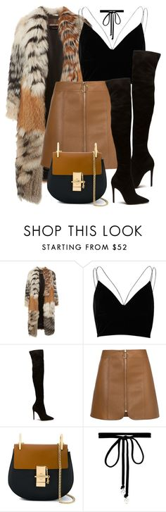 """NY"" by monmondefou ❤ liked on Polyvore featuring Roberto Cavalli, River Island, Chloé, Joomi Lim, black and brown"