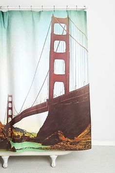 Shannon Clark For DENY Golden Gate Shower Curtain - Urban Outfitters