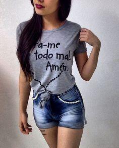 Mais um modelinho de Max Tshirt  #LivraimedetodomalAmém  Compras chame direct ou no WhatsApp (48) 8815-2218.  Enviamos para todo Brasil.  #GiBernardesModas  #BomDia #GoodMorning   #Tshirt #Tshirts #Camisão #camiseta #MaxTshirt #Amém #loja #lojaonline #look #lookdodia #lookoftheday #instafashion #fashion #moda