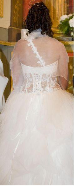 Robe de mariée bustier transparent de chez Mariage et Mariages
