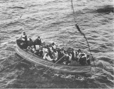 Titanic lifeboat approaching the Carpthia