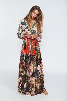 Slide View 1: Mixed Floral Maxi Dress