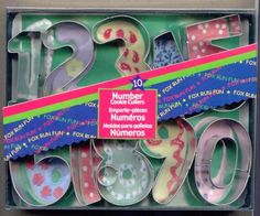Number Cookie Cutters - FOUND!