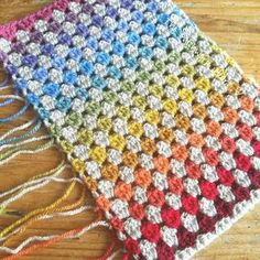 The Patchwork Heart: Rainbow Baby Blanket Granny Square Quilt, Crochet Square Blanket, Crochet Quilt, Crochet Granny, Crochet Blanket Patterns, Baby Blanket Crochet, Crochet Baby, Crochet Blankets, Granny Squares