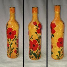 glass painting bottles - Google Search