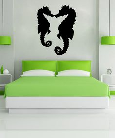 Vinyl Wall Decal Sticker Seahorses #OS_MB639 | Stickerbrand wall art decals, wall graphics and wall murals.