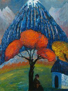 Marianne von Werefkin - Der rote Baum (The red tree) 1910.