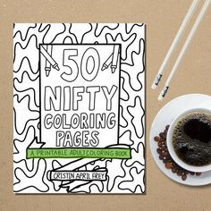 Printable Coloring Book Coloring Pages PDF Instant by CristinApril