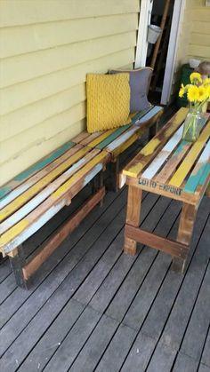 Pallet #Outdoor Set - #Patio Furniture | 101 Pallet Ideas