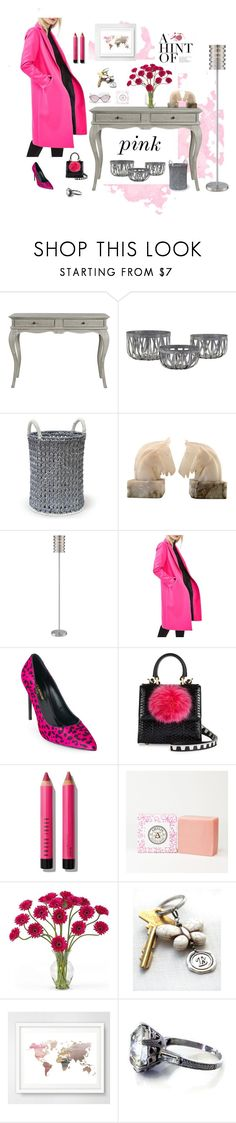 """""""A Hint of PINK"""" by ameliabathandbody ❤ liked on Polyvore featuring Palecek, Lite Source, Topshop, Yves Saint Laurent, Les Petits Joueurs, Bobbi Brown Cosmetics, Nearly Natural, Balenciaga and vintage"""