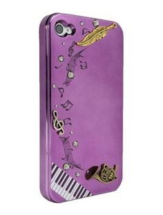 Purple G clef and Horn for iPhone4/4S