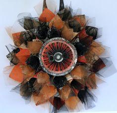 Practical Scrappers: Halloween Cone Wreath
