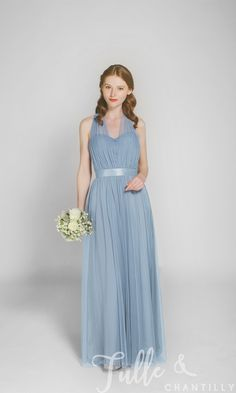 Tulle Convertible Multi-wear Bridesmaid Dress TBQP307 click for 40+ colors
