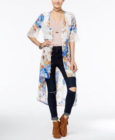 American Rag Printed Crochet-Trim High-Low Kimono, Only at Macy's $42.99 Finish your casual look with this printed maxi top from American Rag, styled with crochet trim and and a dramatic high-low hem.