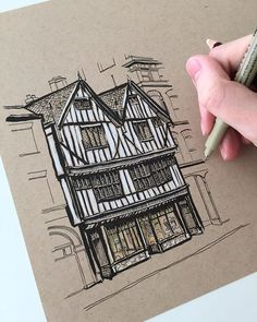 I really need some new music to listen to while I draw... any suggestions?? (The Shambles York in pen and white pencil) #art #drawing #pen #sketch #illustration #linedrawing #architecture #theshambles #york #yorkshire #england #micron #strathmore