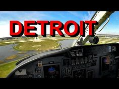 Flying a Cessna Citation and Landing at the Detroit Metro Airport, DTW. Live ATC and cockpit view. Aviation Theme, Airline Pilot, Air Traffic Control, Atc, Airplanes, Landing, Detroit, Aircraft, Live