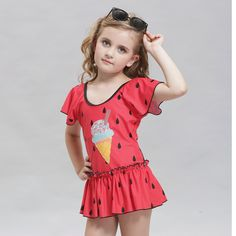 New Arrival Lovely Girls Raindrop Printed One-Piece Swimwear Cute Kids Swimsuit Lovely Child Bathing Suit Mackinac * AliExpress Affiliate's Pin. Detailed information can be found on AliExpress website by clicking on the VISIT button Kids Swimwear, Swimsuits, Kids Bathing Suits, One Piece Clothing, Two Piece Swimwear, Red Swimsuit, Bikini, Costume, One Piece Suit