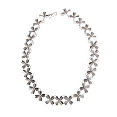 Floral Collar Necklace This impressive and fully hallmarked necklace has a formal neoclassical feel. This is a definite statement piece that has a timeless feel. The total length is approx Temple Jewellery, Neoclassical, Collar Necklace, Precious Metals, Jewels, Gemstones, Formal, Diamond, Silver