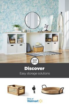 Organization starts at the door! Discover storage solutions from Better Homes & Gardens at Walmart. #entrywayideas #entrywaydecor #entrywaystorage #storageideas #trays #homeentrywaydecor #homeentrancedecor #entrancehallideas #entrancedecor Entryway Storage, Crate Storage, Home Entrance Decor, Entryway Decor, Home Decor, Only At Walmart, Affordable Furniture, Decorating On A Budget, Better Homes And Gardens