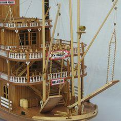 Wooden Ship Model Kits Educational Toy Model-Ship  DIY Train Hobby Model Boats Wooden 3d Laser Cut Scale 1/100 MISSISSIPPI 1870