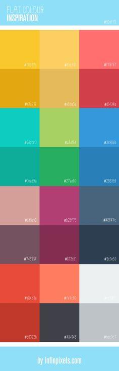 Flat Colour Inspiration for Web Design [Infographic]  Latest News & Trends on #webdesign | http://webworksagency.com
