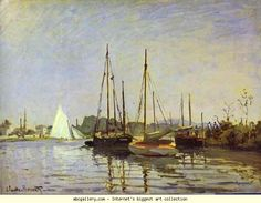Claude Monet. Pleasure Boat, Argenteuil. Olga's Gallery.