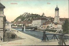 Grieskai, Tegetthoffbrücke, bis ca 1920 Austria, Paris Skyline, Travel, Graz, Old Pictures, Viajes, Destinations, Traveling, Trips