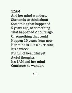 Nunca paro de pensar