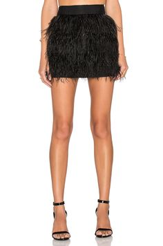 MILLY Feather Mini Skirt. #milly #cloth #dress #top #shirt