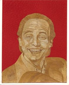 Billy Crystal  Leaf art Portrait of Billy Crystal  by museumshop, $99.00  Whoppie made out of leaves.  Can you BELIEVE IT IS COMPLETLY. Made of leaves of rice plant.  No color,paint or dye added to the natural color of rice straw.  Ancient leaf art.! !  DISCOVER The beauty & uniqueness of leaf art.  To see more of leaf art visit www.etsy.com/shop/museum shop.