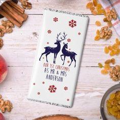 Personalised Loving Reindeers Chocolate Bar