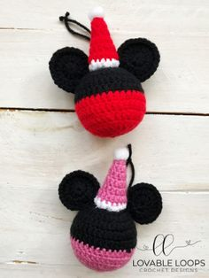 Free Mickey Mouse and Minnie Mouse Ornament Crochet Pattern – Crochet 2020 Crochet Ornament Patterns, Disney Crochet Patterns, Crochet Disney, Crochet Headband Pattern, Free Christmas Crochet Patterns, Crochet Christmas Ornaments, Holiday Crochet, Crochet Snowflakes, Christmas Angels