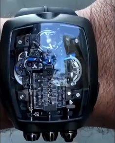 捷克豹 Bugatti Chiron 16 Cylinder Piston Engine Tourbillon brand new watch in better price. It is premium class luxury watch comes with original box, papers and Manufacturer Warranty Full Set. Big Watches, Stylish Watches, Luxury Watches For Men, Amazing Watches, Beautiful Watches, New Bugatti Chiron, Watches Photography, Skeleton Watches, Expensive Watches