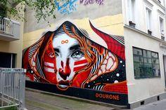 Sunday Street Art : Dourone - rue Sainte-Marthe - Paris 10 http://www.parisladouce.com/2016/06/sunday-street-art-dourone-rue-sainte.html