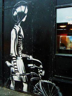 Girl and bicycle - Brick Lane