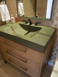 Concrete Barrel Sink in Olive by stogsconcretedesign on Etsy, $1050.00