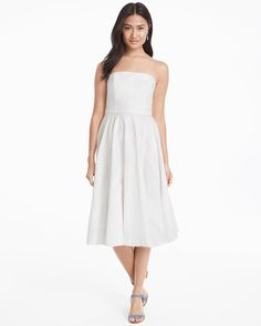 b5c0c1626b132 We crafted our strapless eyelet fit-and-flare dress in lightweight cotton  so you