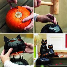 Oslavujete Halloween a hľadáte inšpirácie na dekoráciu? Vyskúšajte si vyrobiť túto čiernu mačku. Je to jednoduché a vyzerá to nádherne.