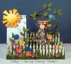 Sassy Cheryls Step Card Challenge- this is Maddie- Swing me a Story image!