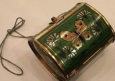 Antique-Tin-Litho-Butterfly-Collection-Box-Tin-Litho-Insect-Box-Antique-Doll
