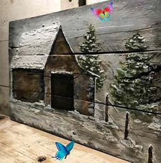 Pallet Wood Barn Art  Wood Wall Art  Rustic Country Wall  <br> Wood Pallet Art, Reclaimed Wood Art, Pallet Painting, Wood Pallets, Painting On Wood, Reclaimed Wood Projects, Country Wall Decor, Wood Wall Decor, Western Decor