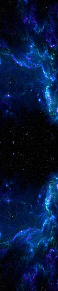 Blue Galaxy Custom Box Background by DUSKvsDAWN