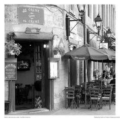 Art Print: Café crème de la crème by Carl Ellie : Coffee Shops, Canadian Christmas, Cafe Creme, Italian Cafe, Destinations, Old Montreal, Poster Art, Coffee Places, Turin Italy