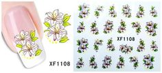 Nail Art Water Transfer Stickers Flower Butterfly Decals Tips Decoration Flowers For Sale, Nail Art Set, Gel Acrylic Nails, Nail Forms, Water Transfer, Nail Decorations, Gel Polish, Decals, Butterfly
