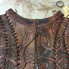 Almost done with the #hand #stitching the #back -  #leather top of #season3…