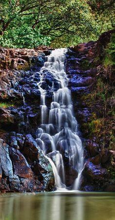 Waimea Falls on the North Shore of Oahu, Hawaii
