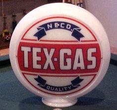 NECO Tex Gas 1940s glass