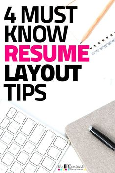 These 4 resume layout tips are crucial parts of writing a professional resume that stands out. Don't miss these expert resume tips! Basic Resume Examples, Simple Resume, Modern Resume, Create A Resume, Resume Help, Free Resume, Cover Letter Tips, Cover Letter For Resume, Cover Letters