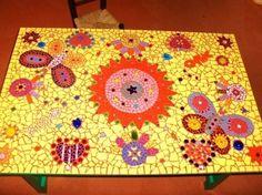Table basse en mosaique  : Accessoires de maison par millefiori